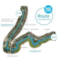 Swim to Fight Cancer route